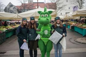 Slika 1 - zelena ekipa na tržnici